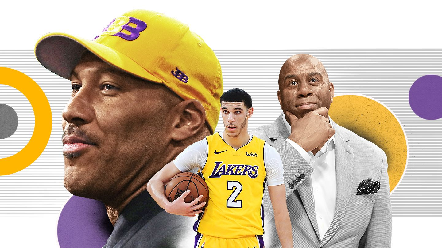 ab4e6b5f8 Los Angeles Lakers star Lonzo Ball is caught between his famous father and  his team