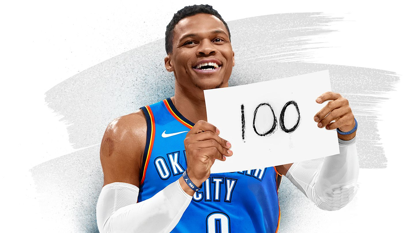 e54108a0e85b The best moments along Russell Westbrook s journey to 100 career  triple-doubles - NBA