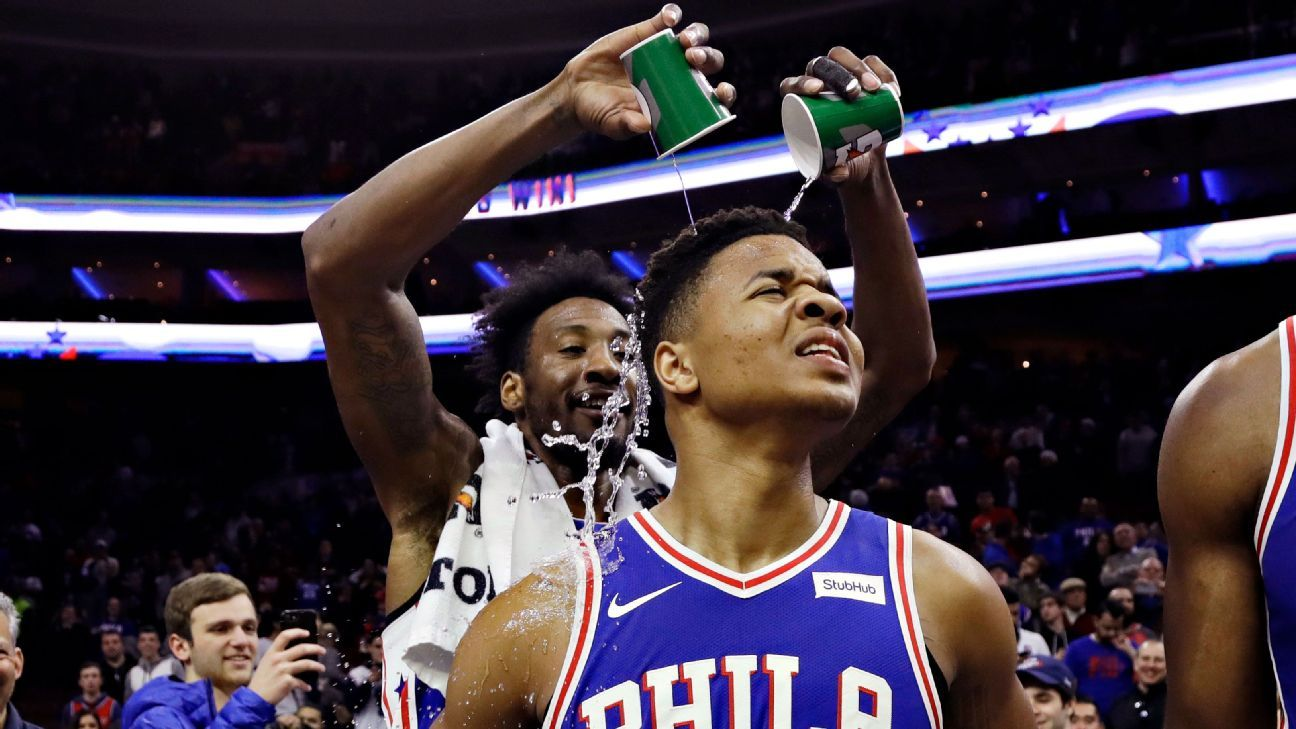 Markelle Fultz of Philadelphia 76ers scores 10 in return from 68-game  absence beeb9580c