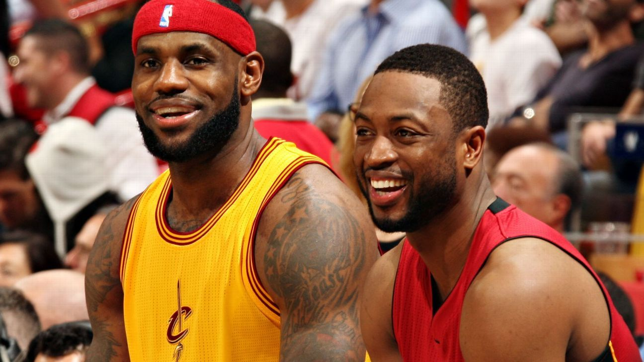 76b0d06f1507 LeBron James of Los Angeles Lakers looks ahead to final matchup with Dwyane  Wade