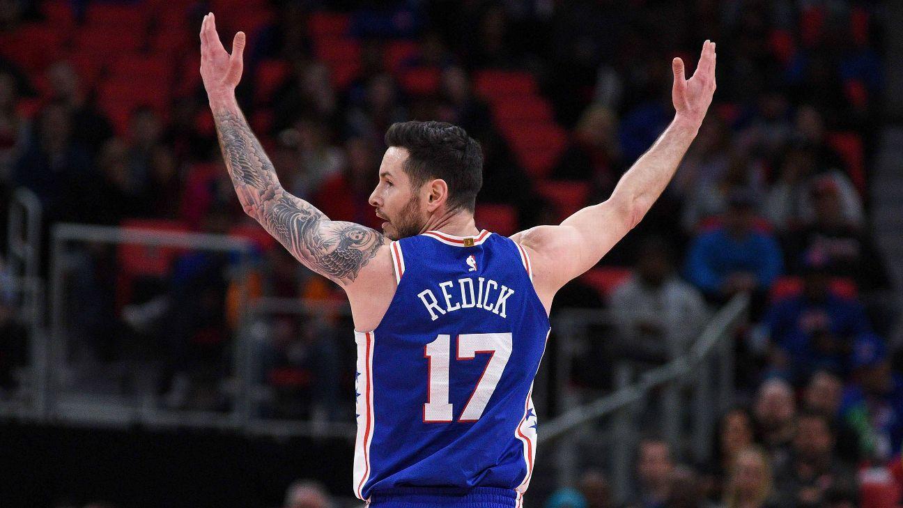 look for b46af d0770 Philadelphia 76ers re-sign JJ Redick to 1-year deal