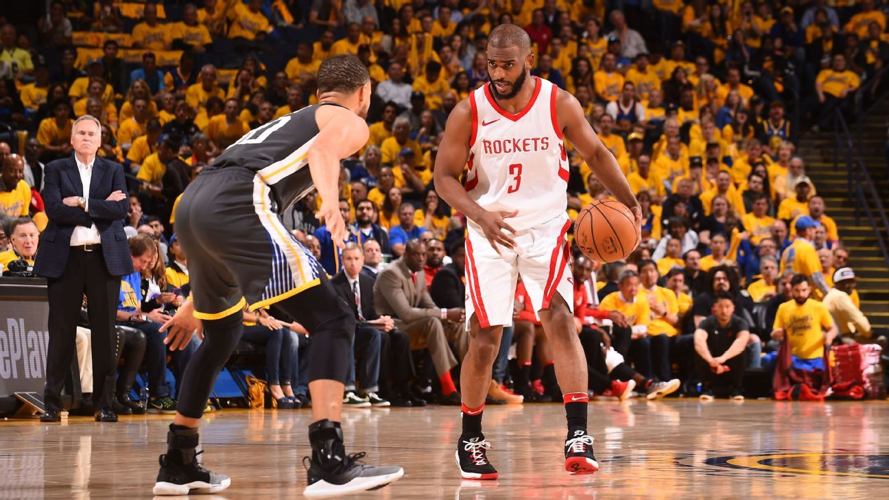 a7fbbded401 Road Houston Rockets withstand Golden State Warriors barrage ...