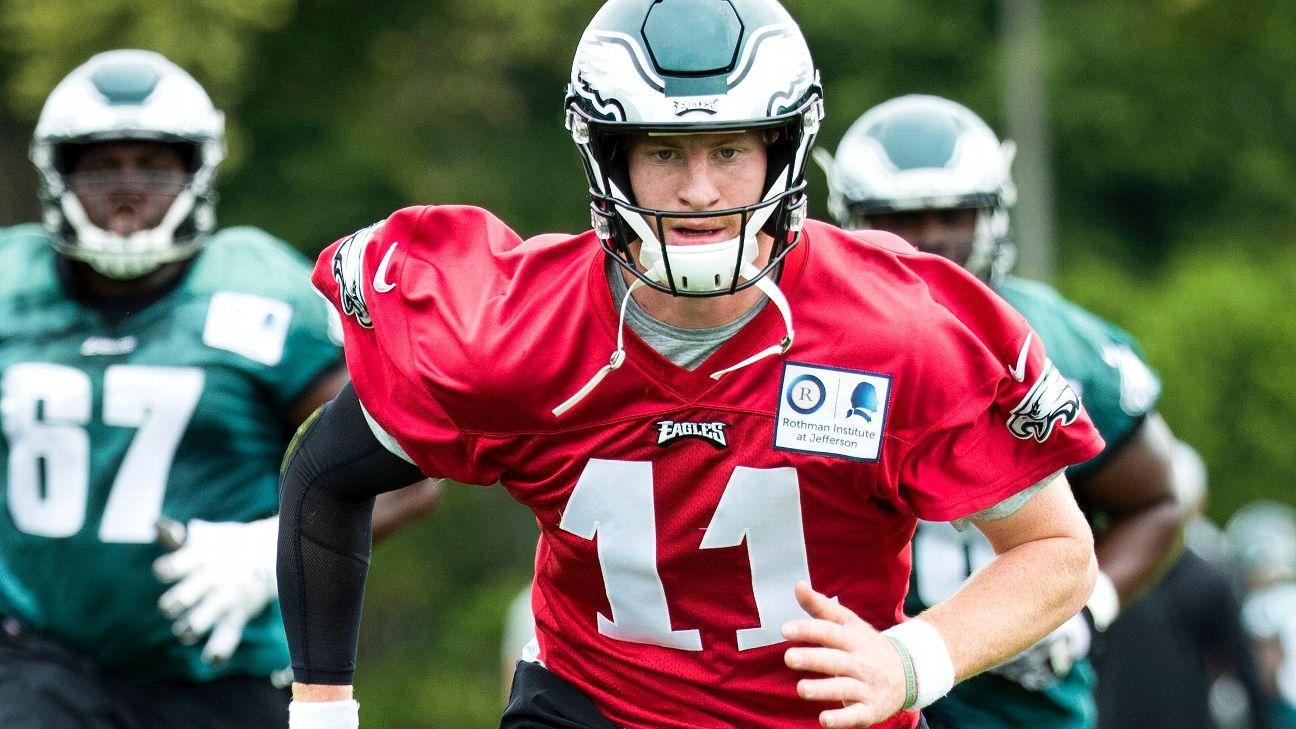 ae756ccd332 Philadelphia Eagles QB Carson Wentz to resume 11-on-11 work on Sunday