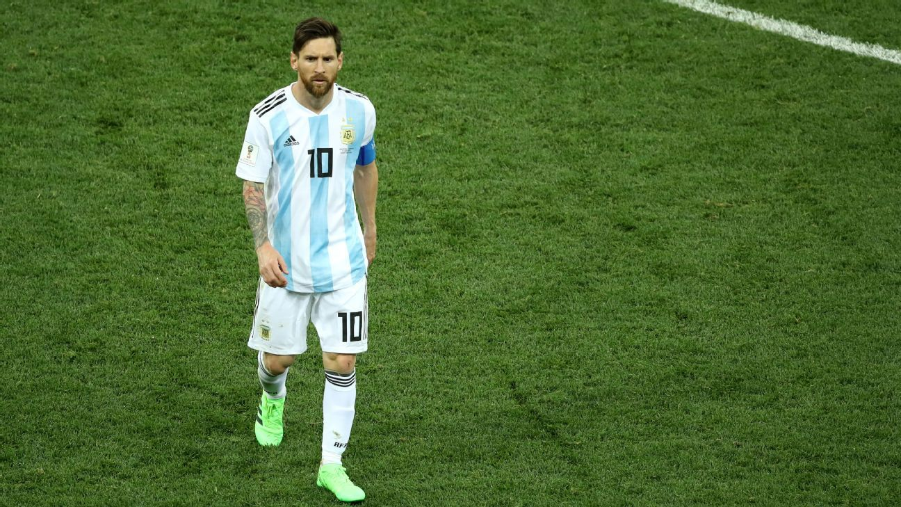 Lionel Messi appears helpless as Argentina's World Cup dream fades