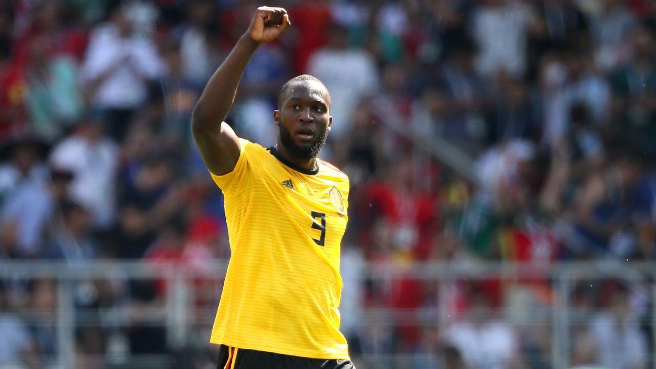 6bffd3847 Belgium s Romelu Lukaku first to score back-to-back World Cup braces since  Maradona