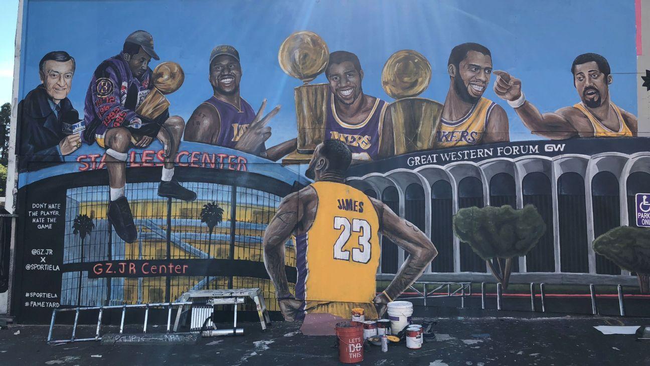 Second Mural Depicting Lebron James Vandalized In Los Angeles