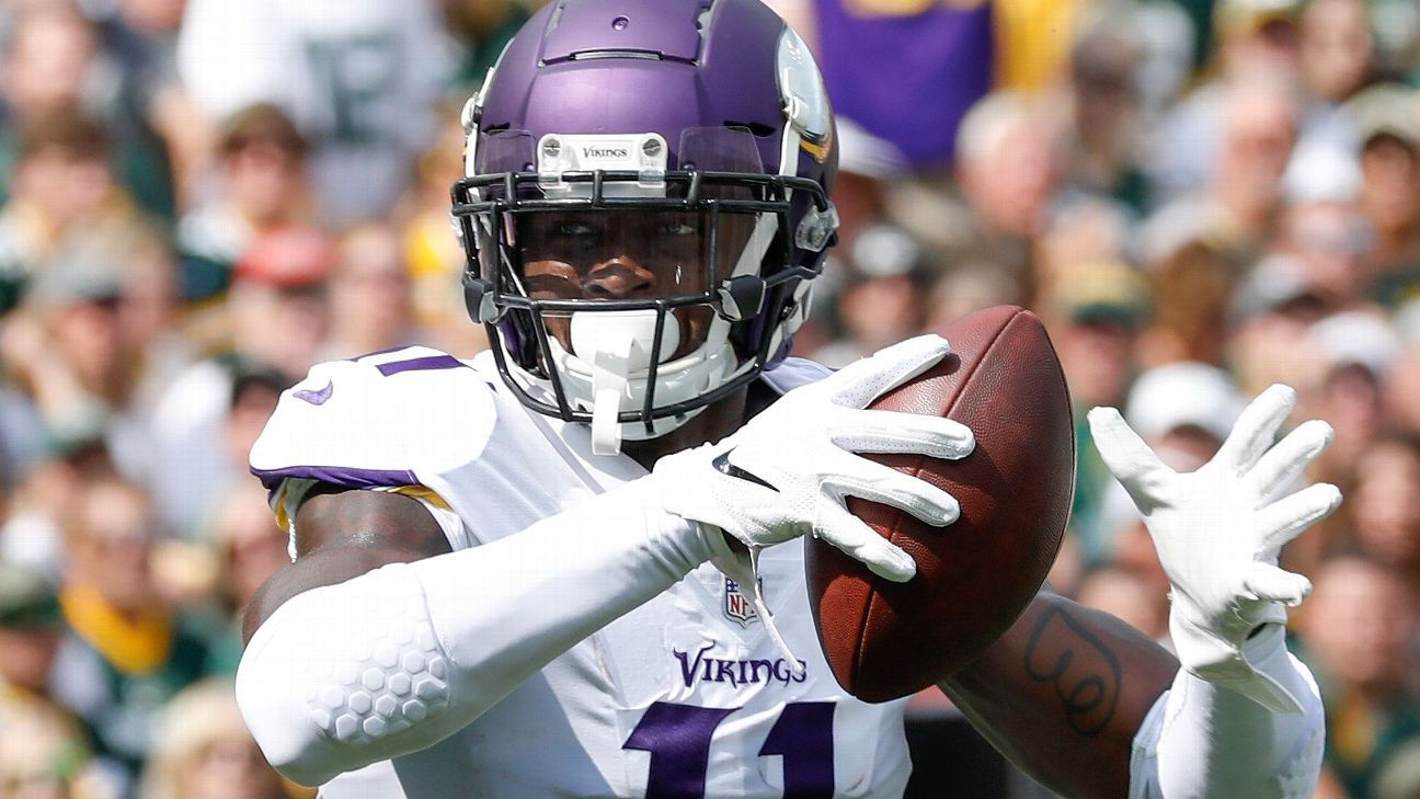 Vikings wide receiver Laquon Treadwell is a healthy inactive for the game against the Lions, the first game the former first-round draft selection will have missed since Week 14 of the 2016 rookie season.