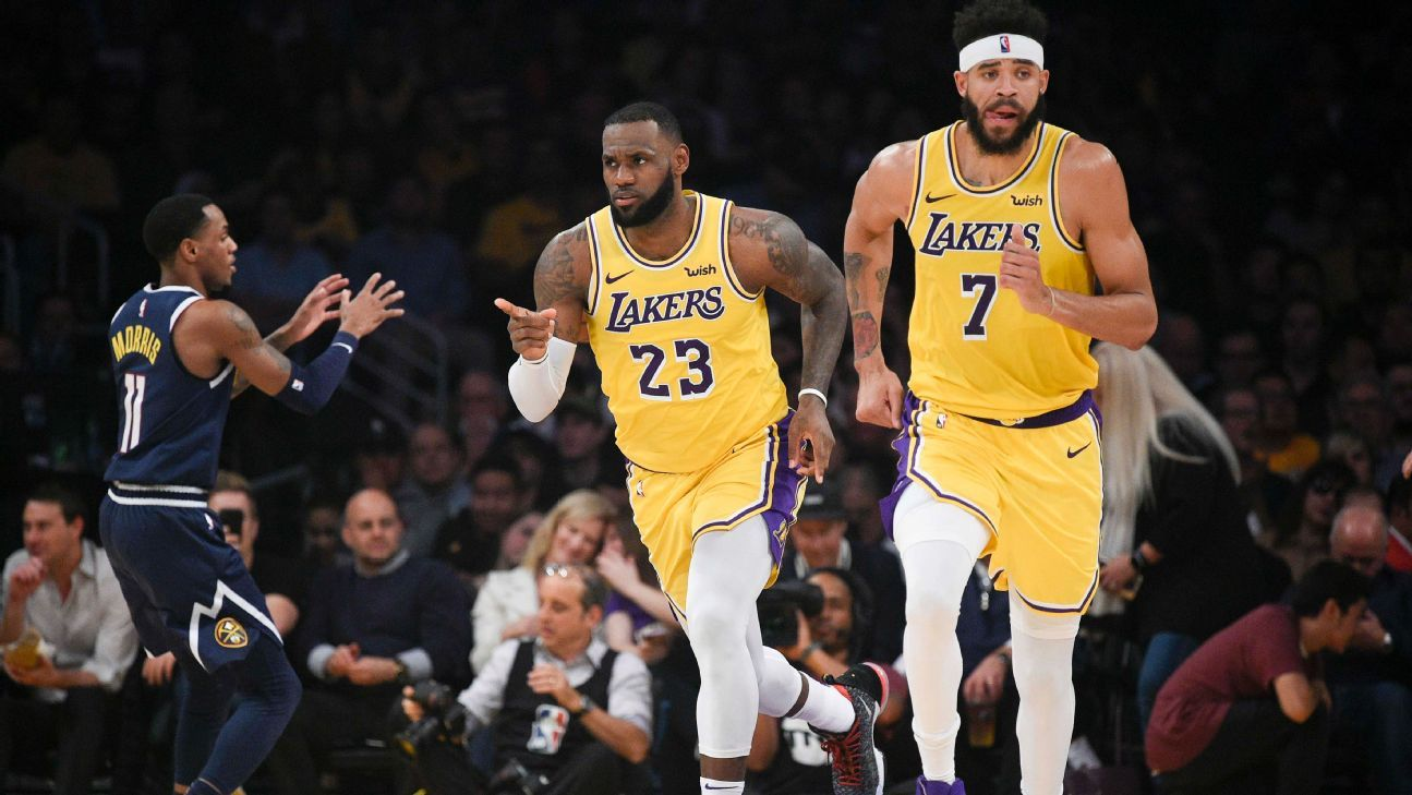 NBA -- Lakers hand Nuggets first loss 39ca9379e
