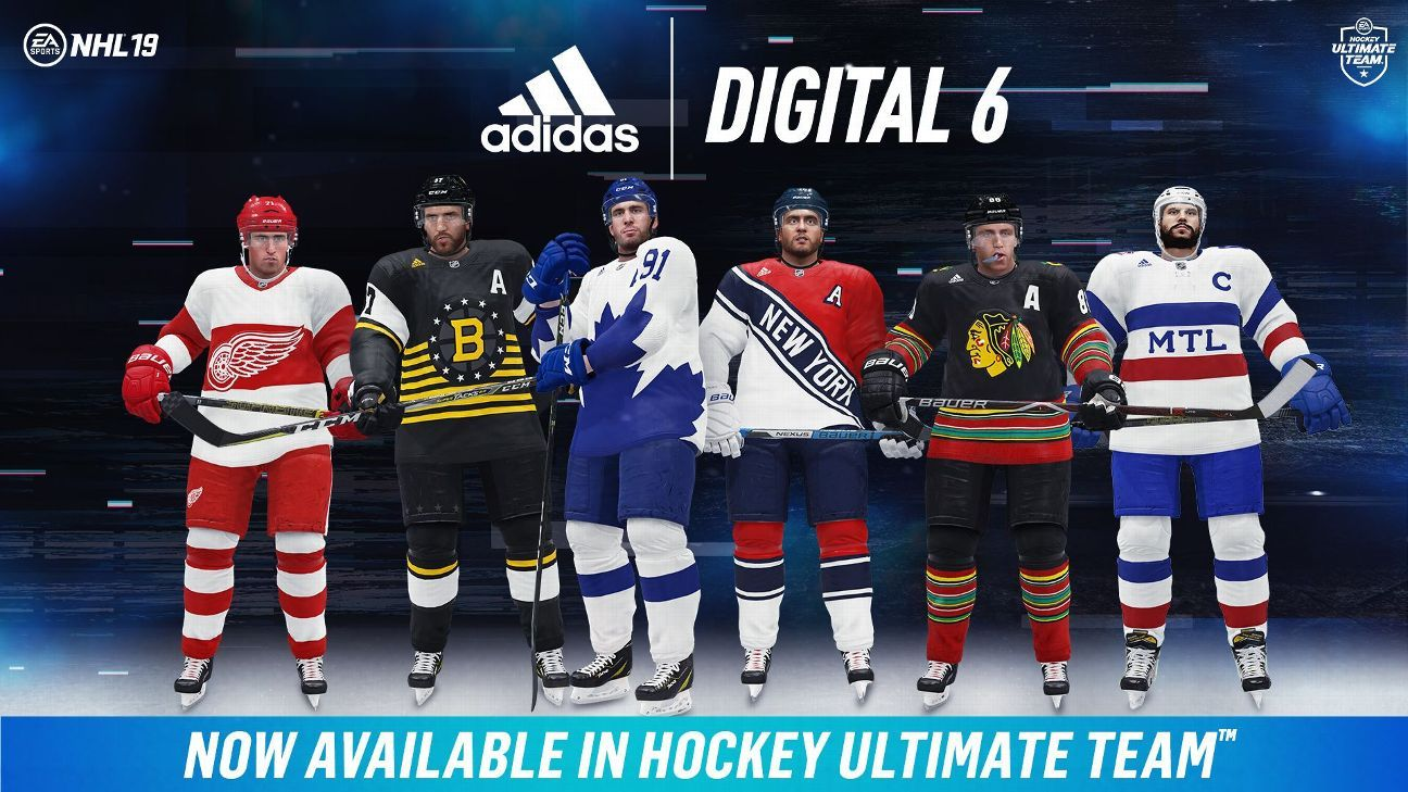 c66395f37 NHL - Adidas reinvents Original Six jerseys in EA Sports   NHL 19