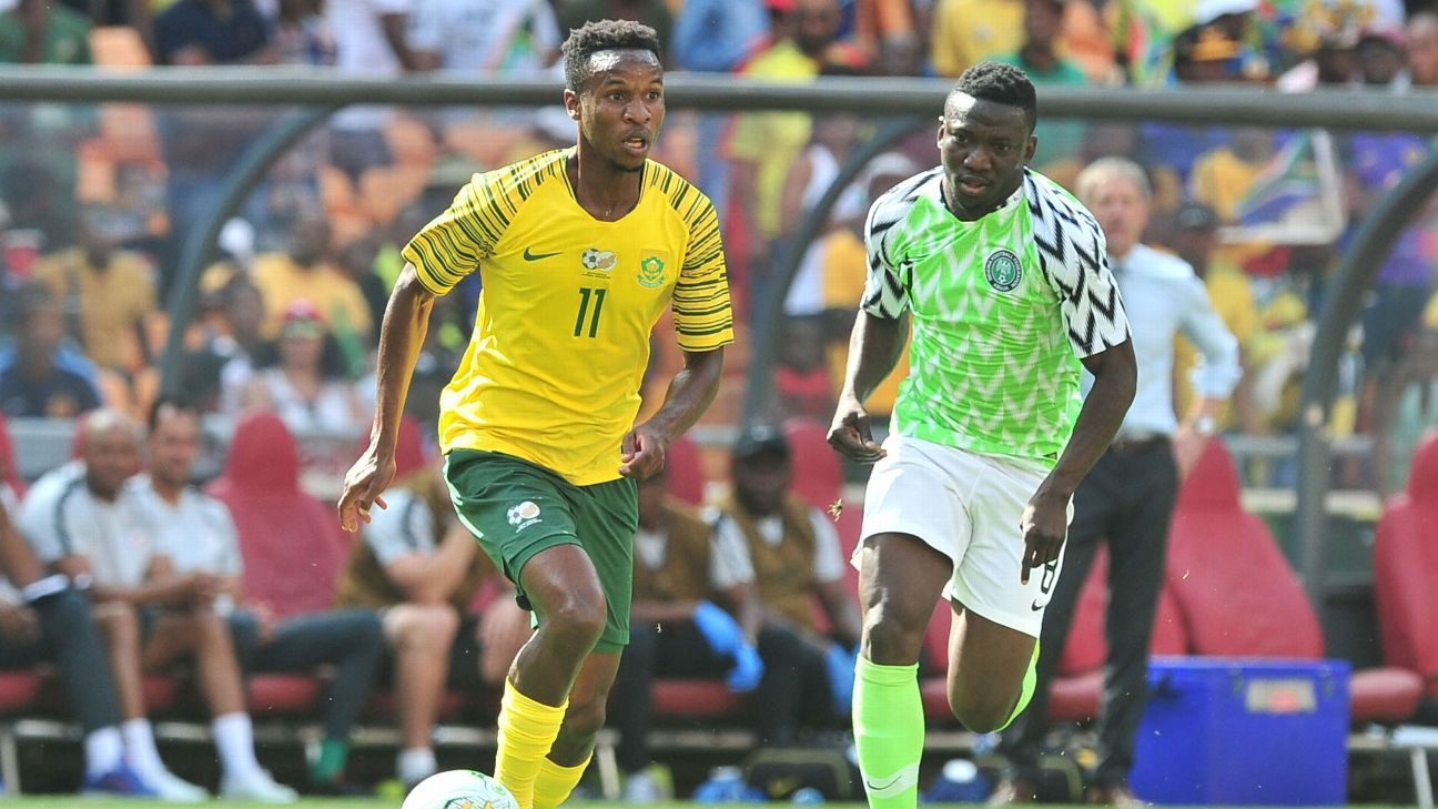 Image result for Nigeria seal nations cup berth with South Africa draw