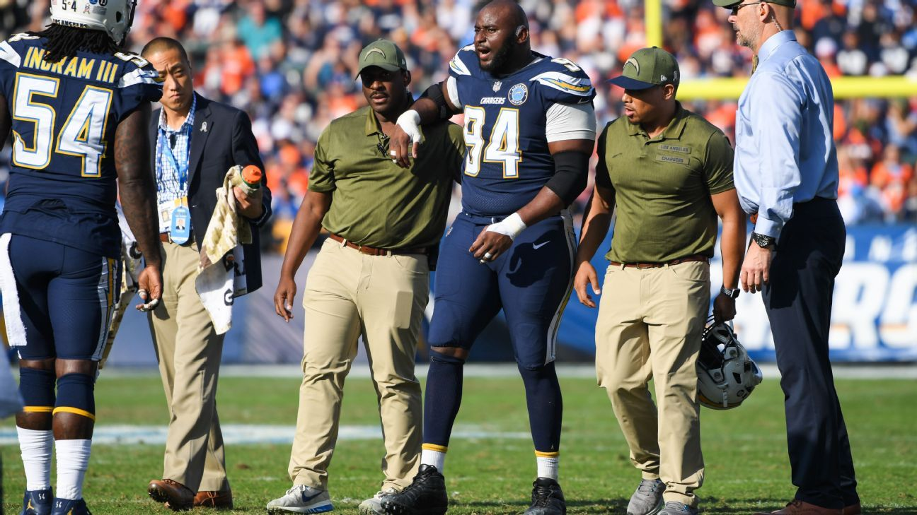Defensive tackle Corey Liuget will become a free agent in March after the Chargers announced Wednesday they won't pick up his 2019 contract option. GM Tom Telesco said Liuget could re-sign with the team during free agency.