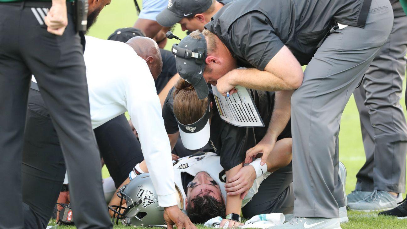 Mckenzie Milton Ucf Knights Qb Suffers Leg Injury