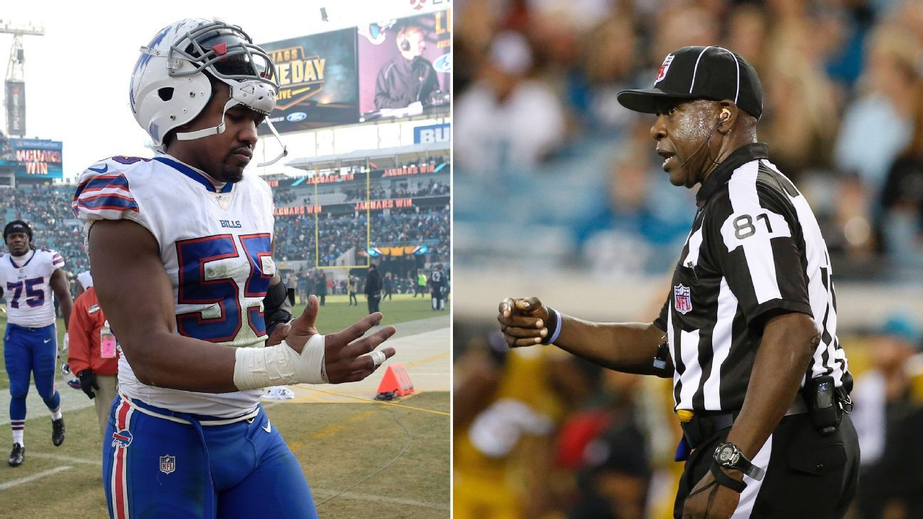 Confrontation with official costs Bills' Jerry Hughes $53,482