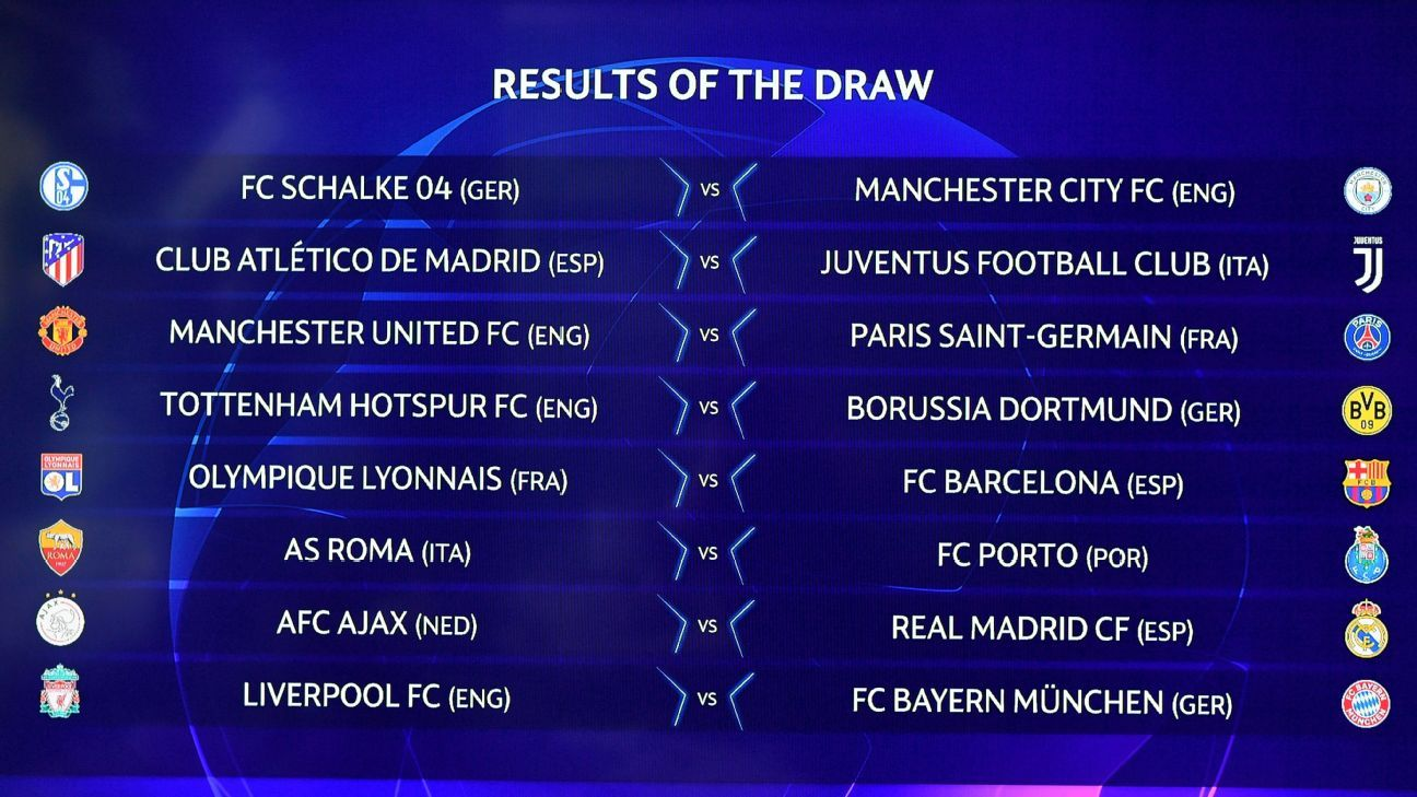 ESPN FC writers' Champions League round-of-16 predictions
