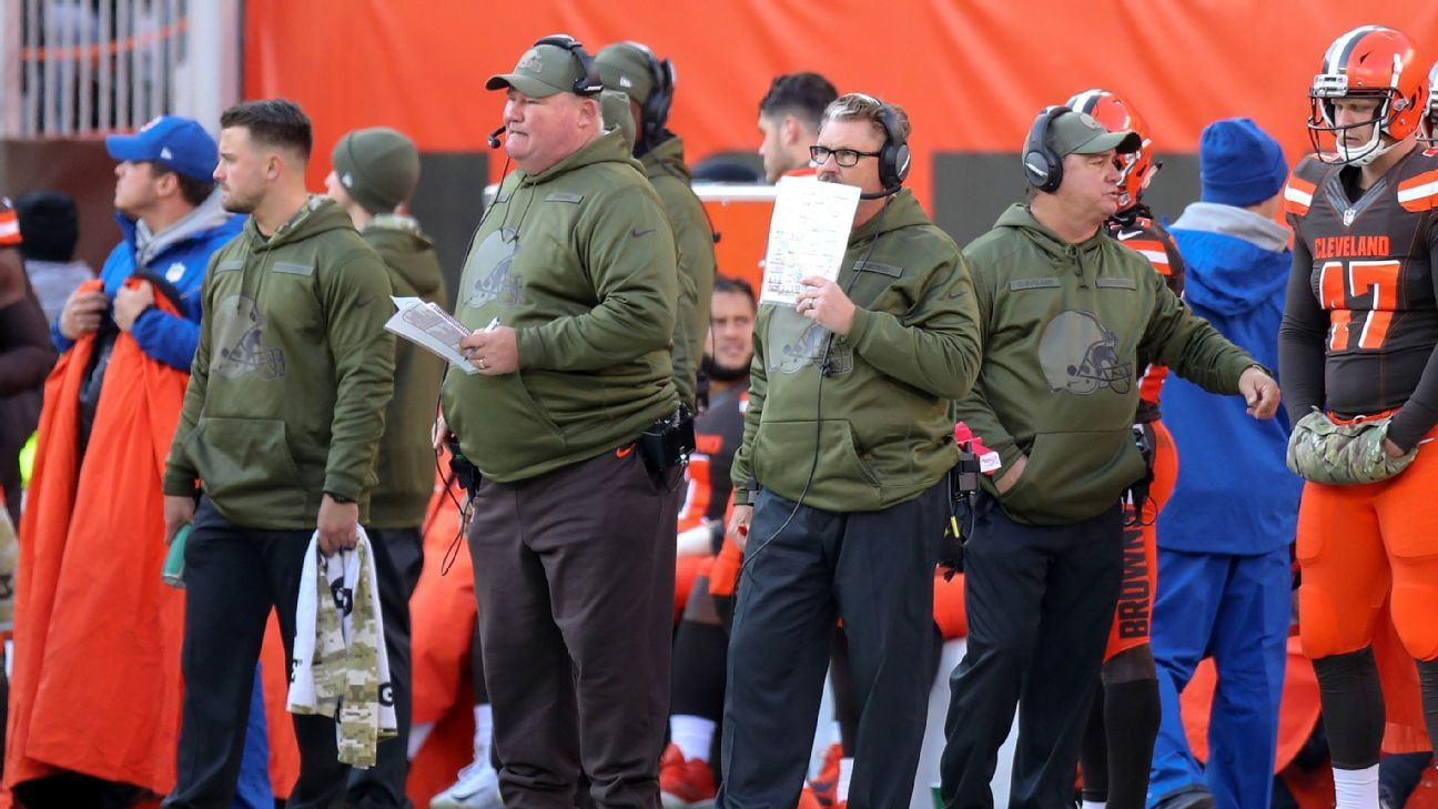 Browns general manager John Dorsey said Freddie Kitchens and Gregg Williams earned interviews for the head-coaching job with the way they handled the team during a 5-3 finish.
