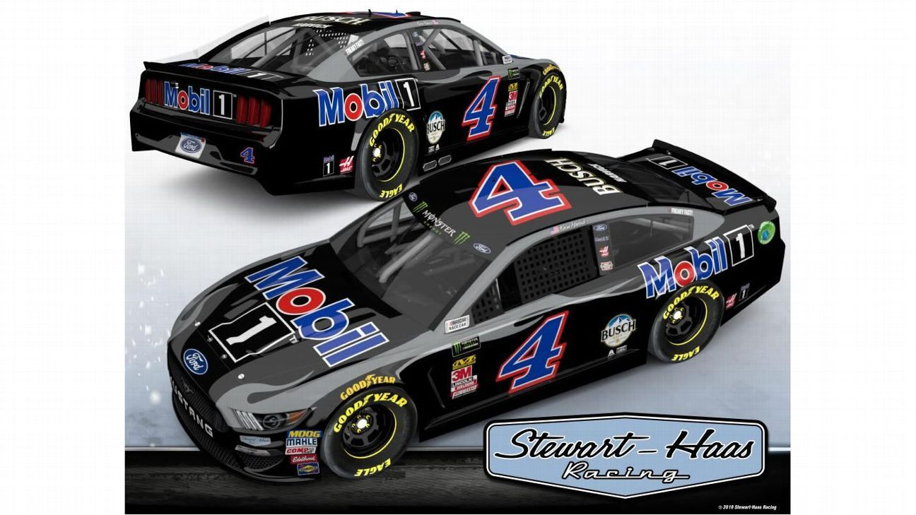 Black Mobil 1 scheme for Kevin Harvick