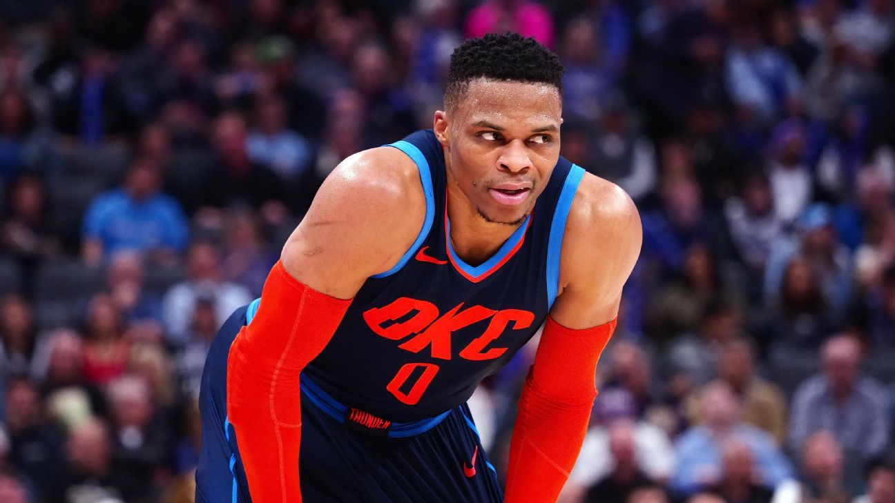 Russell Westbrook s roller-coaster offense isn t slowing down the ... dea0f5cd3c