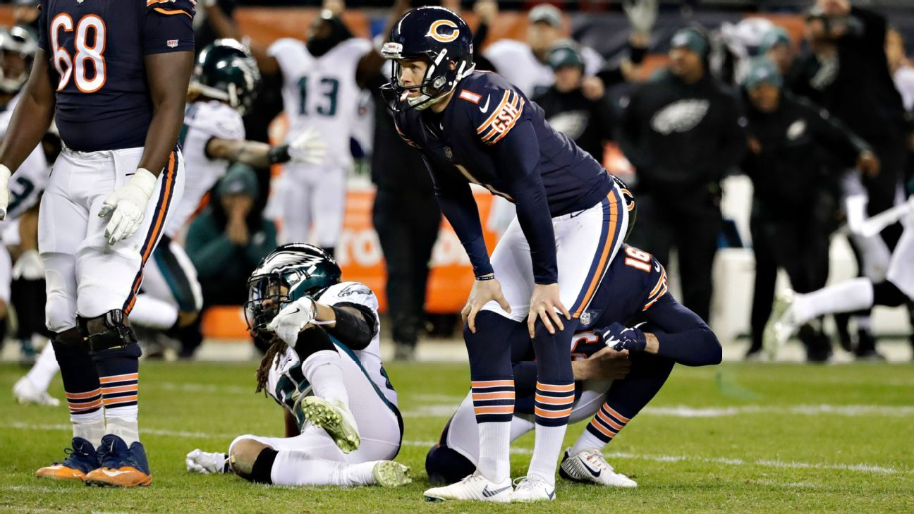Bears kicker Cody Parkey was not totally to blame for missing a potentially game-winning field goal Sunday, since the NFL officially ruled it a block the next day.