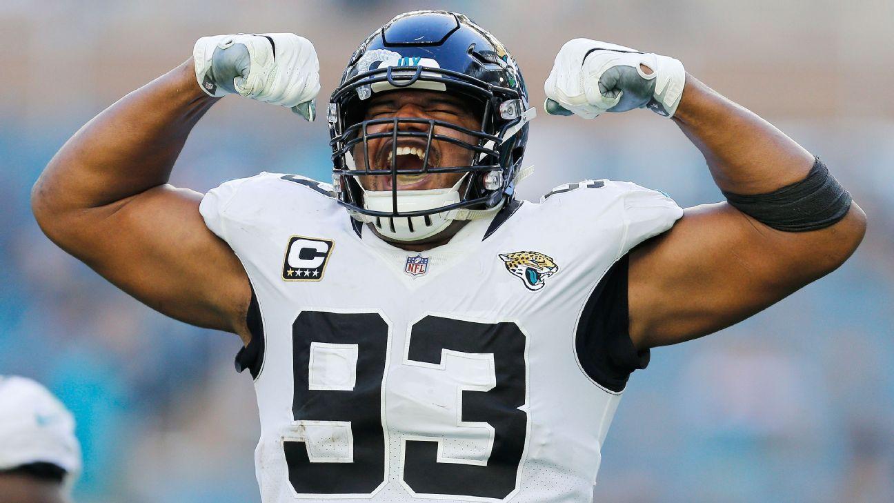 Sources - Jaguars to trade DE Calais Campbell to Ravens