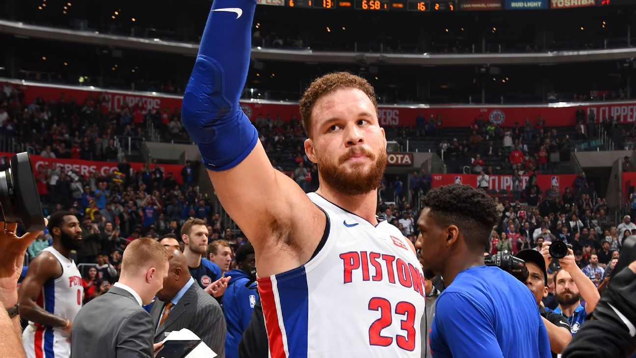 588ff82ba07f Detroit Pistons forward Blake Griffin scores 44 points against LA Clippers