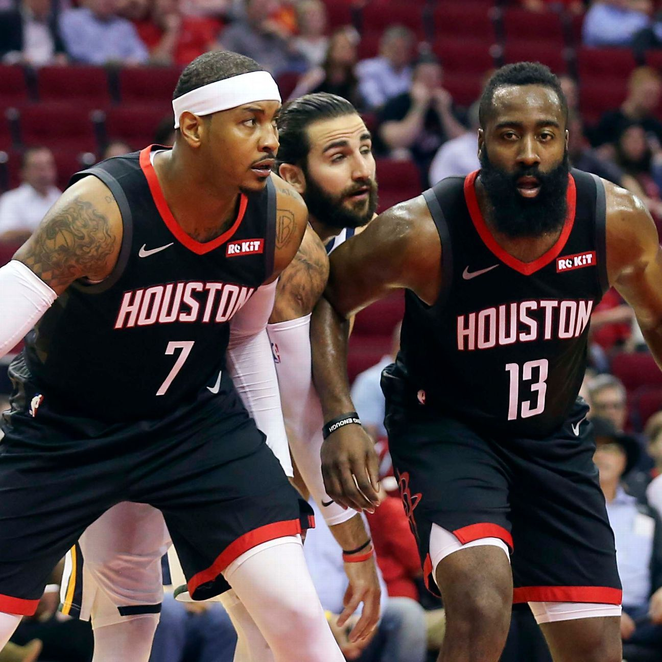 Houston Rockets' James Harden Says Carmelo Anthony Can