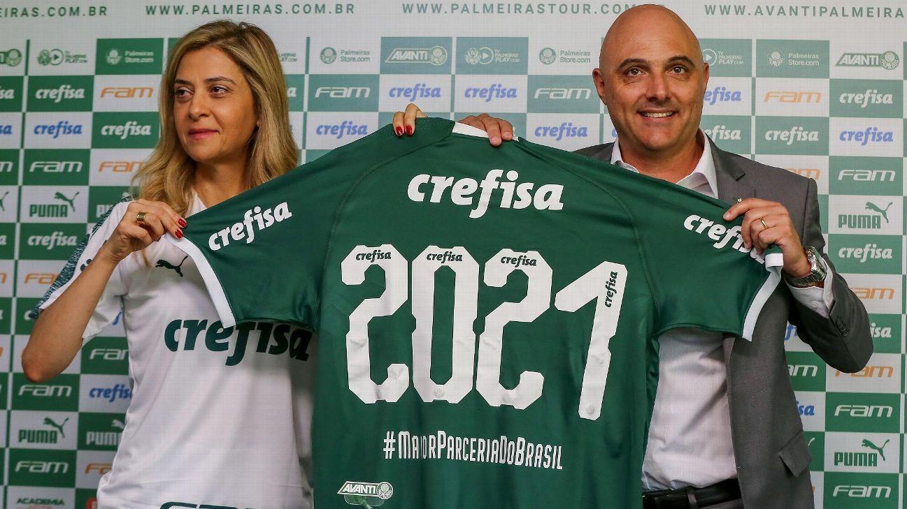 296526b2eeb Palmeiras e Crefisa anunciam renovação de contrato de patrocínio por três  anos e até R  410 milhões  entenda