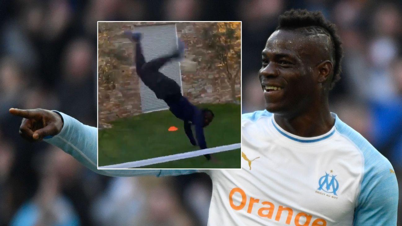 Mario Balotelli adds 'scorpion kick' to his Instagram showreel of skills and antics