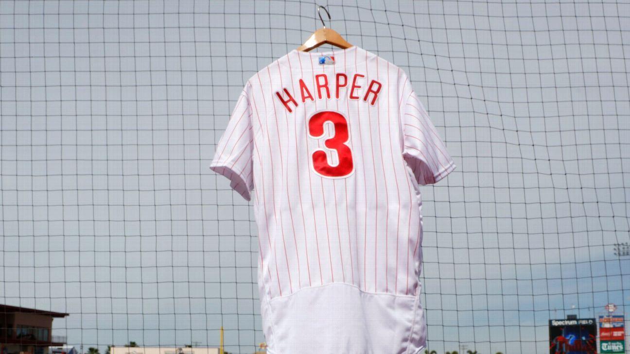 Jersey de Bryce Harper con Filis supera marca de LeBron James 0cdc0a1a3ef