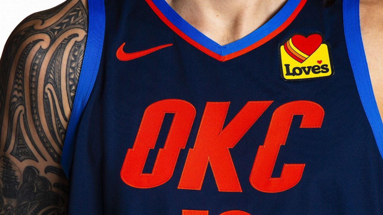 cheaper 5ca43 95278 OKC's jersey patch deal completes sponsorship for all 30 teams