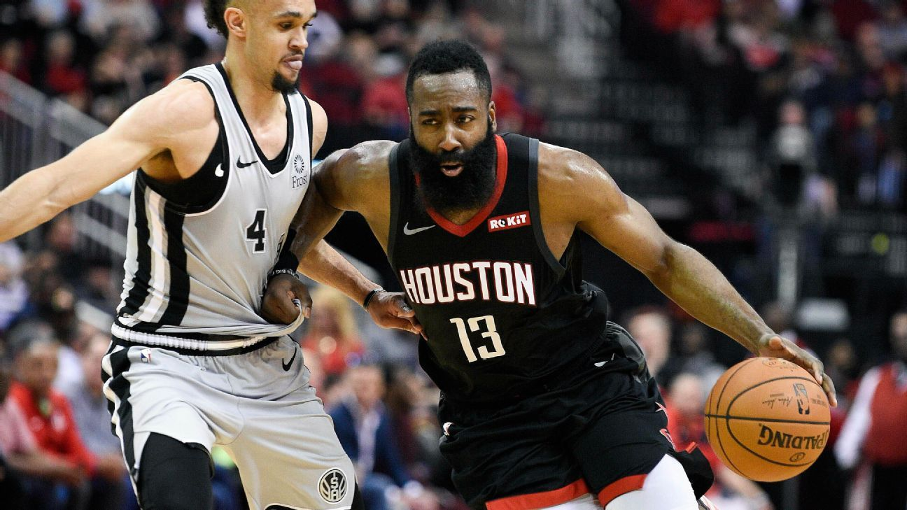 Harden goes for 61 again as Rockets top Spurs