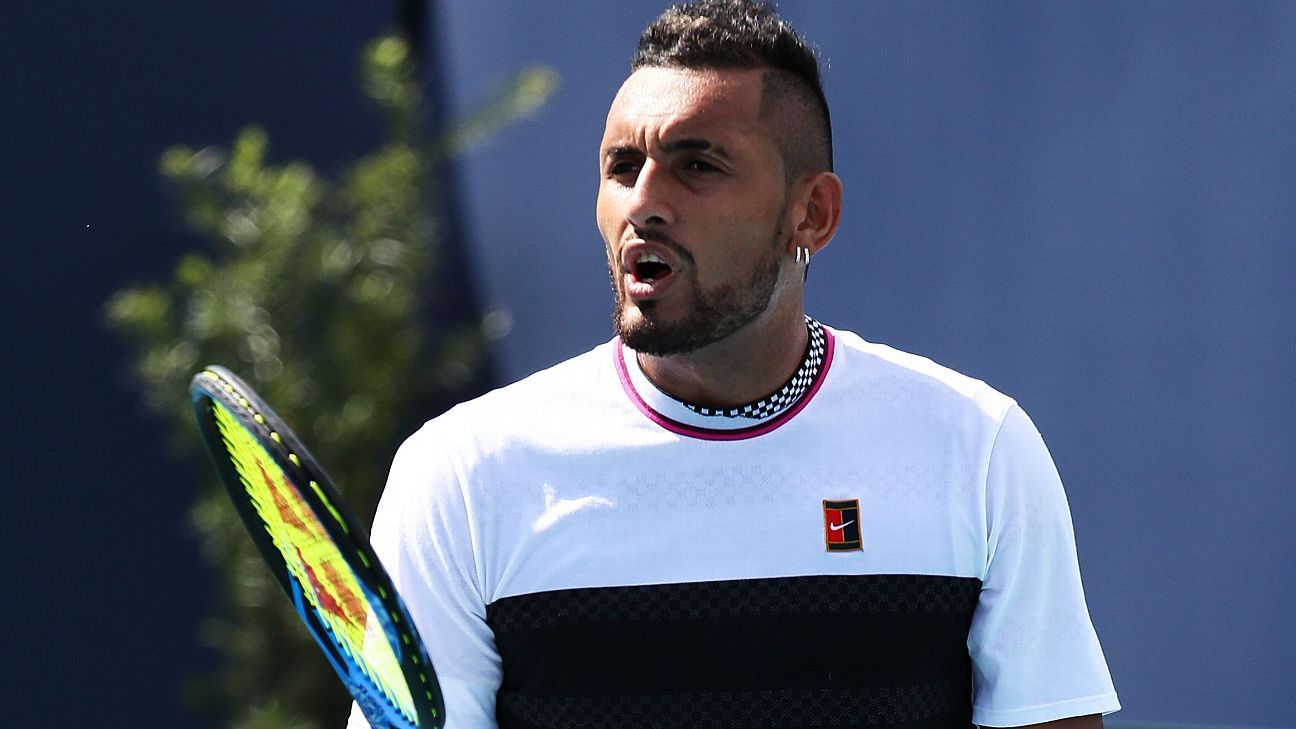 Smashed rackets and obscenities: The full Nick Kyrgios experience