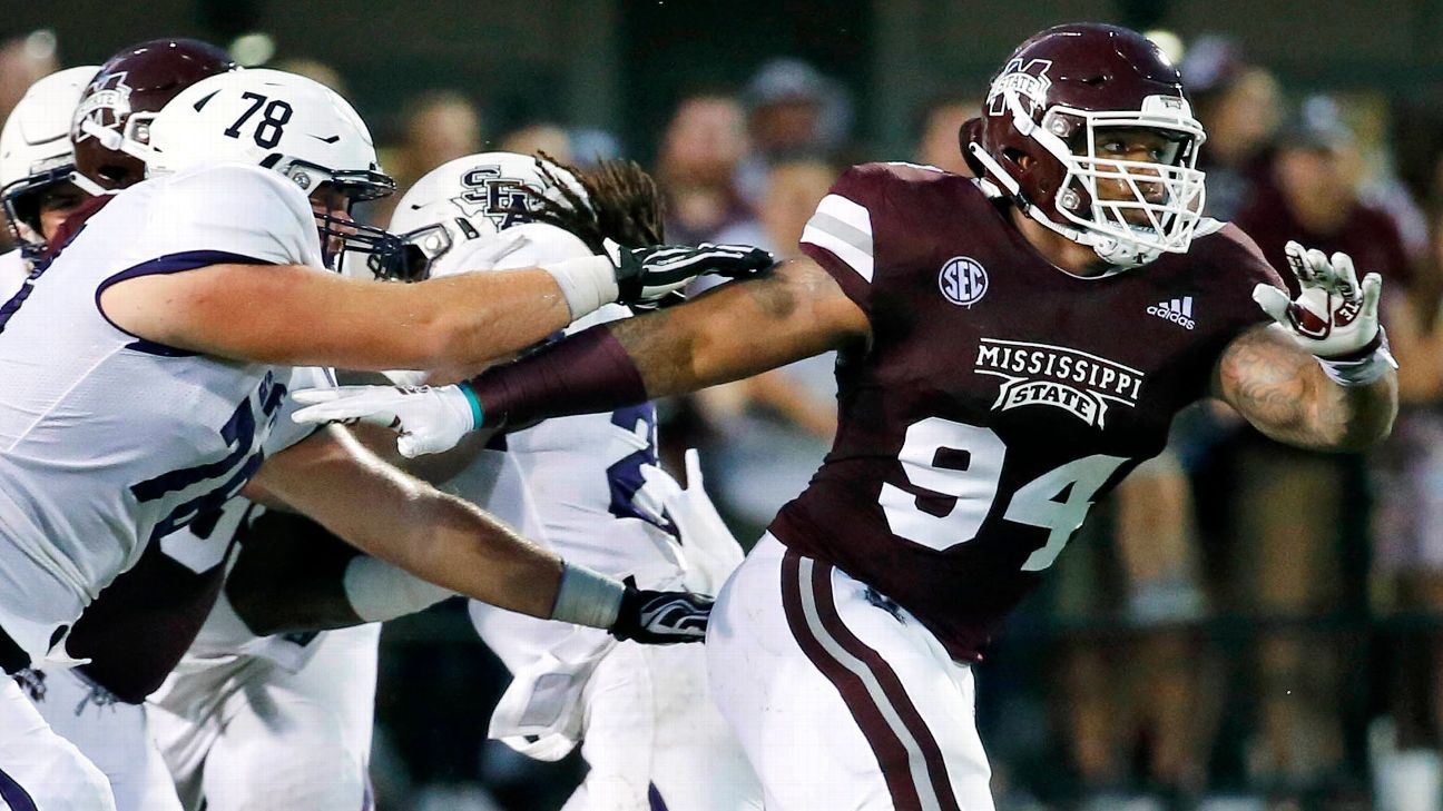 The Titans drafted Mississippi State defensive tackle Jeffery Simmons with the No. 19 pick in the NFL draft.