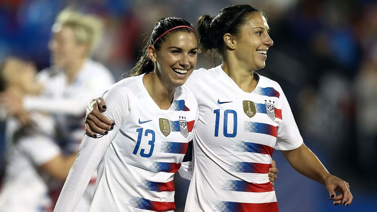 2d213da98 Carli Lloyd Alex Morgan headline US s 2019 World Cup roster