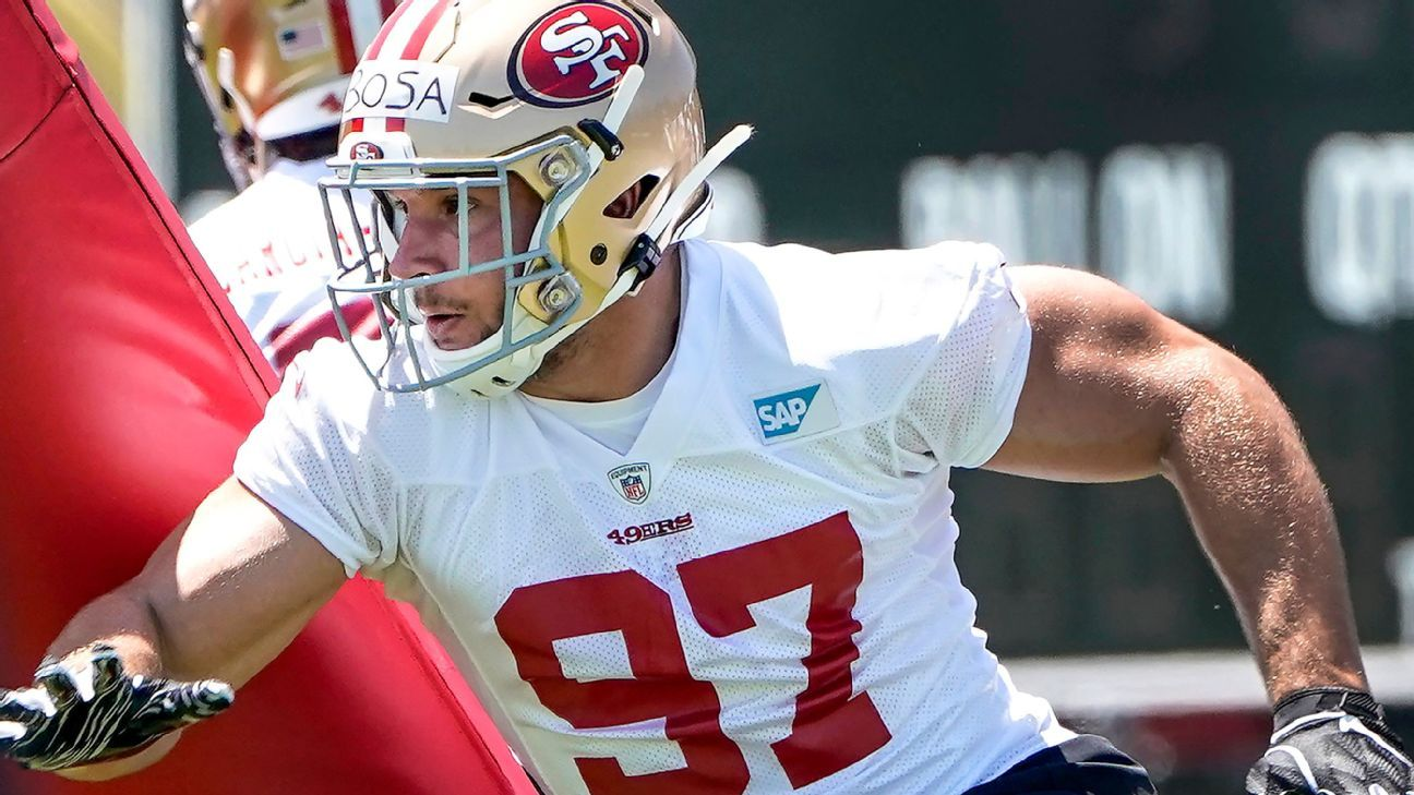 Niners defensive end Nick Bosa will miss