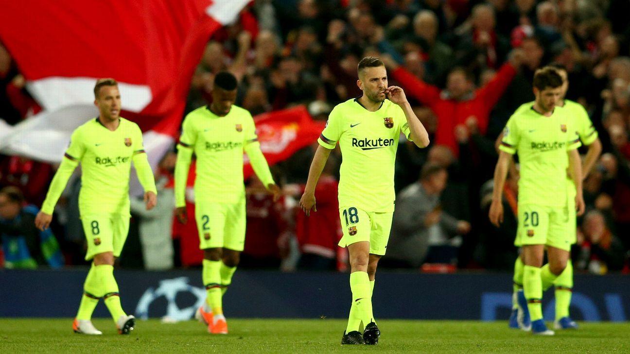 50d114725 Jordi Alba 3 10 as errors start Barca s collapse vs. Liverpool
