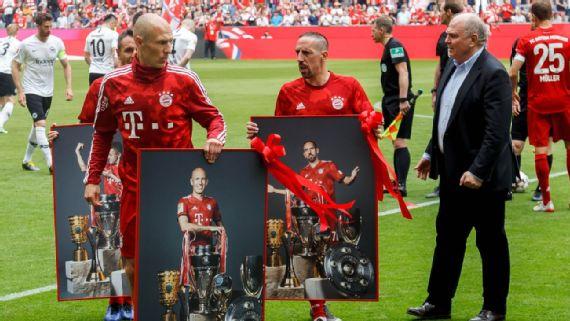 Resultado de imagem para Ribery e Robben atuam pela última vez com a camisa dos bávaros