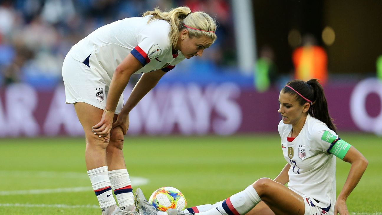 7188073ec 2019 FIFA World Cup - Despite Alex Morgan injury, U.S. finishes group with  perfect record