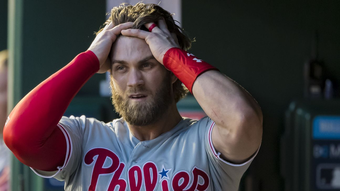 Harper leaves Phillies' game due to dehydration