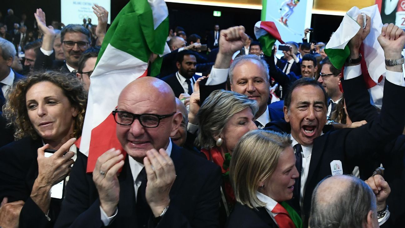 Italy wins vote to host 2026 Winter Games