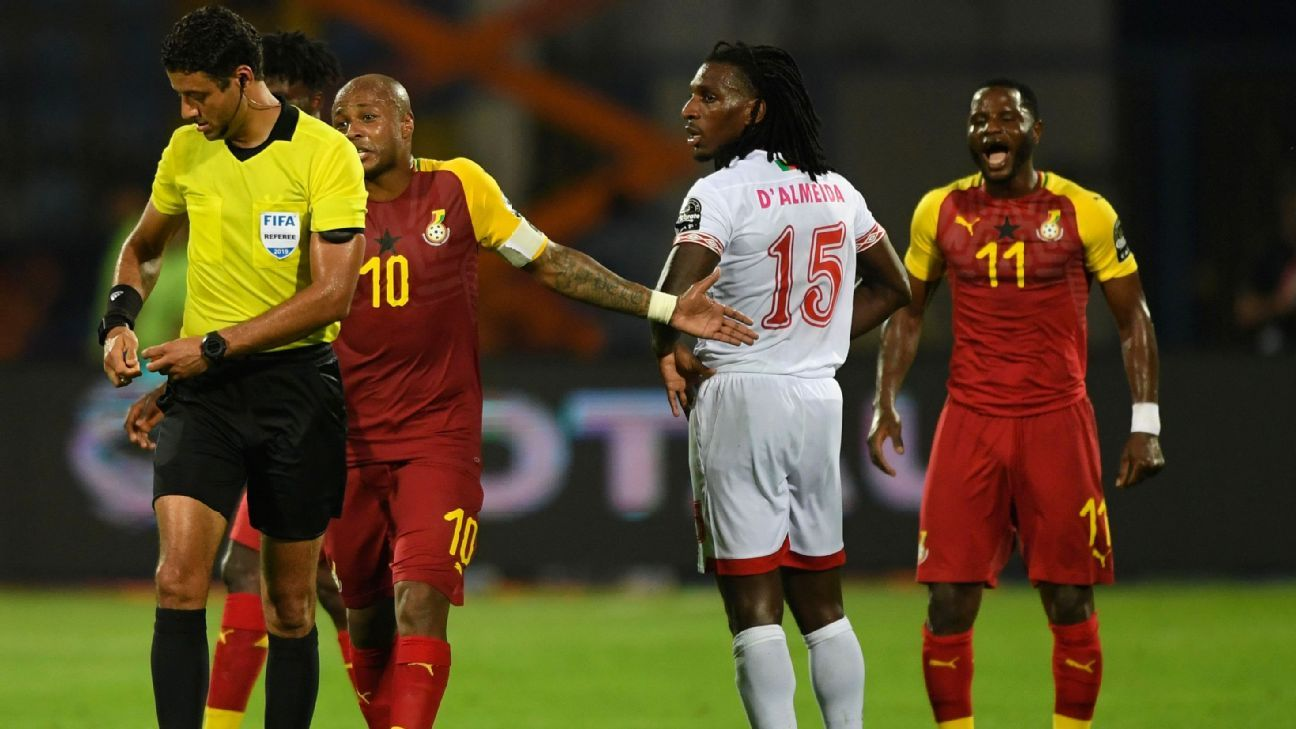 Image result for john boye red card afcon 2019