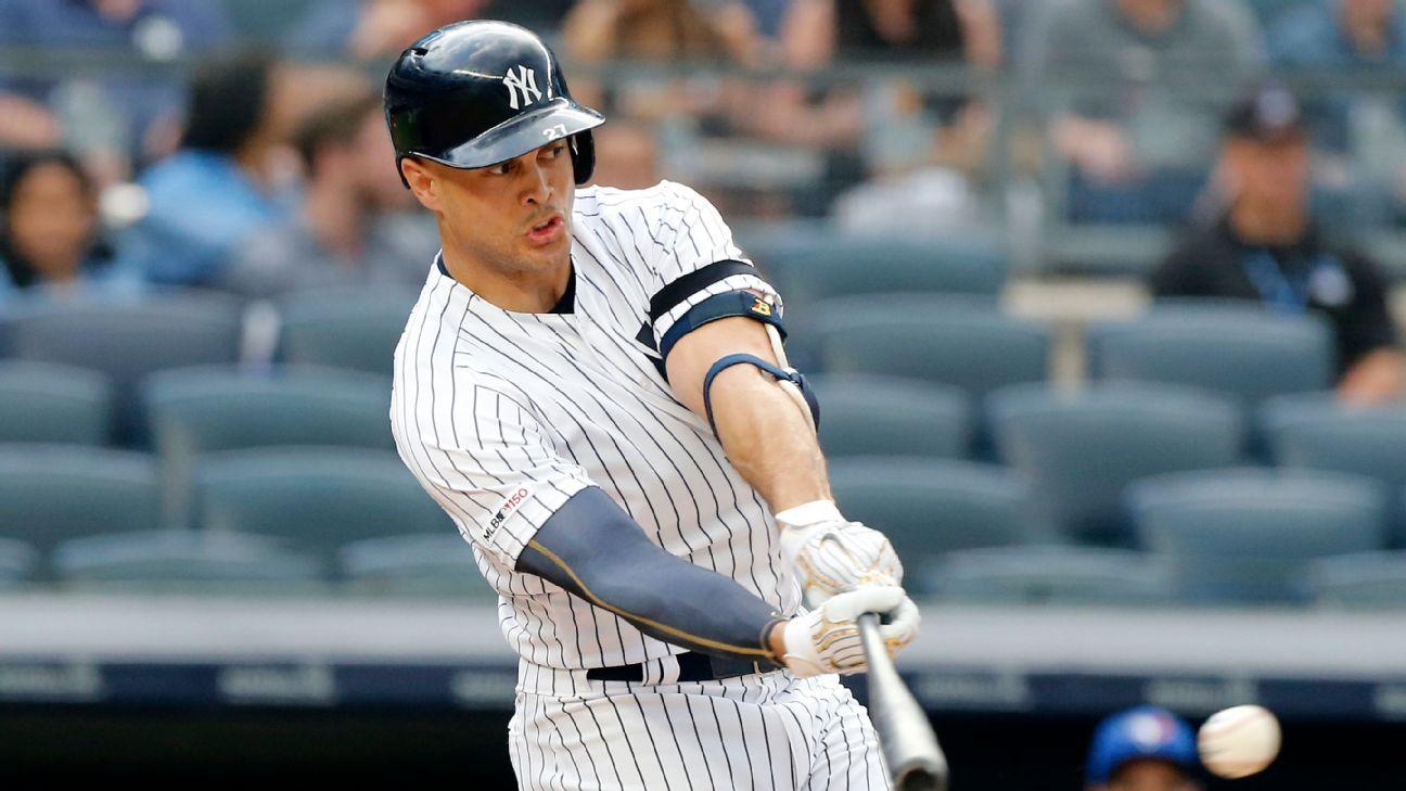 Yankees' Stanton hits in sim game, eyes return