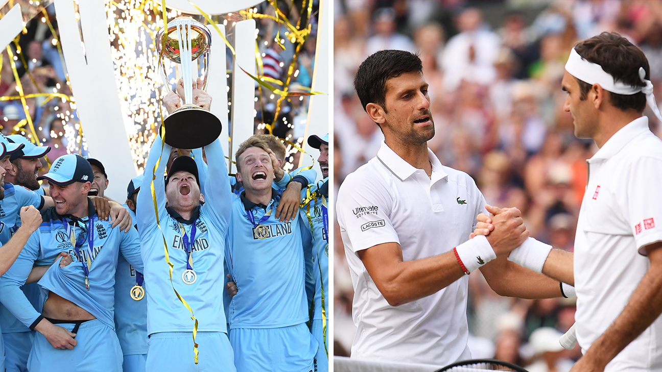 Cricket World Cup vs. Wimbledon -- Which amazing final was better?