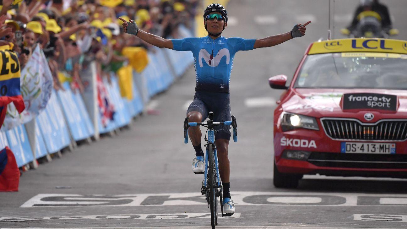 Tour de France: Quintana takes Stage 18 as Bernal gains time