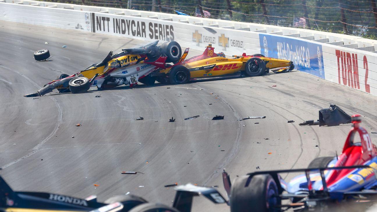 Rosenqvist to hospital after multicar Pocono crash