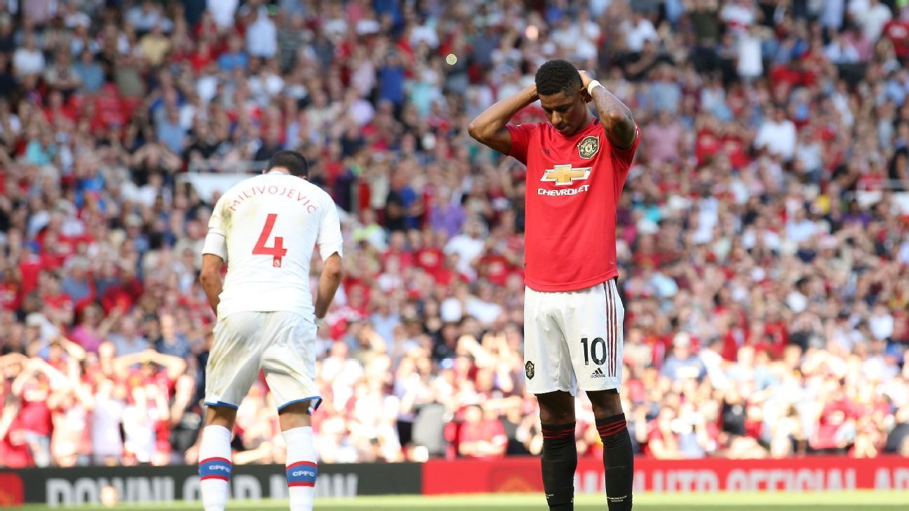 Rashford misses penalty as Palace stun United