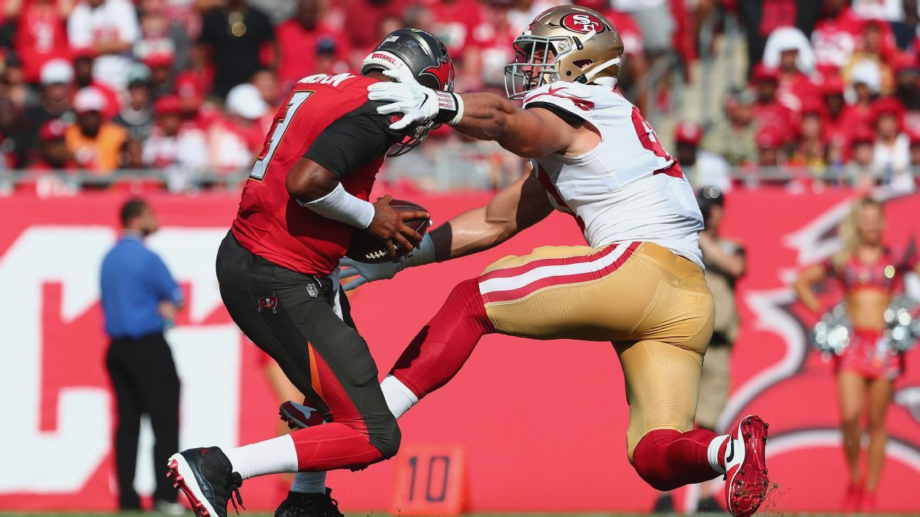 Niners' Bosa practices in limited capacity, still iffy