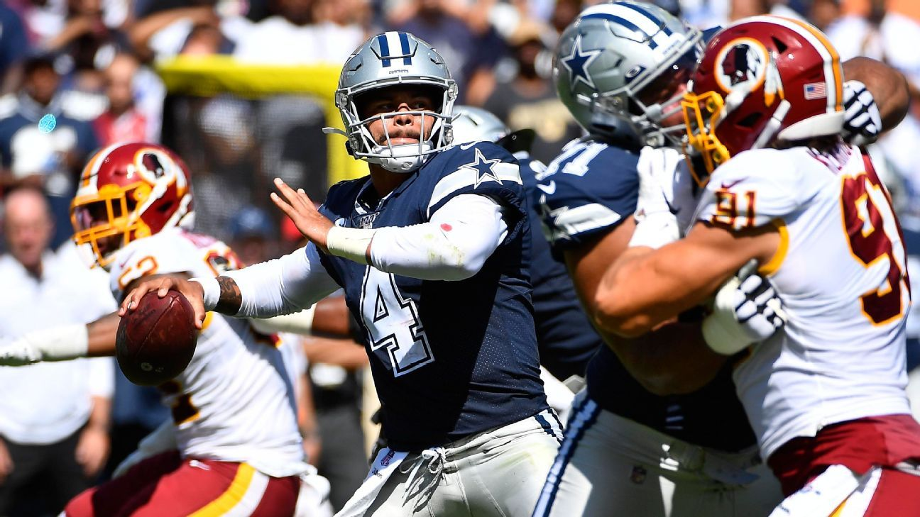 Cowboys' Dak Prescott nearly flawless after early interception