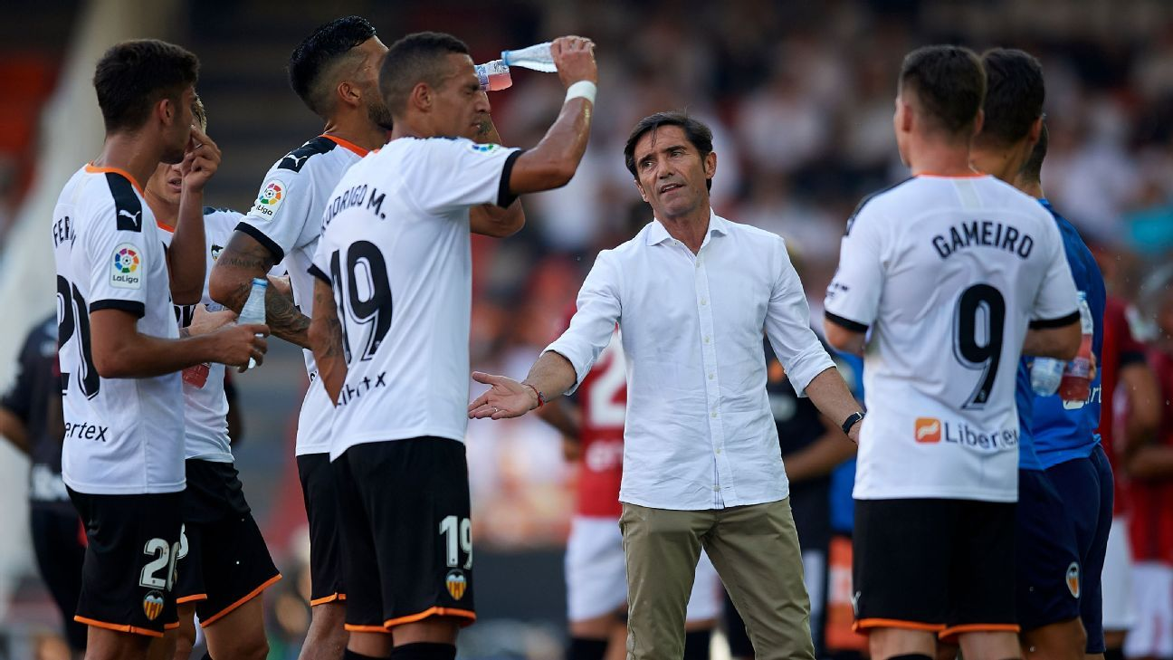 Valencia players on silent protest at Marcelino axe