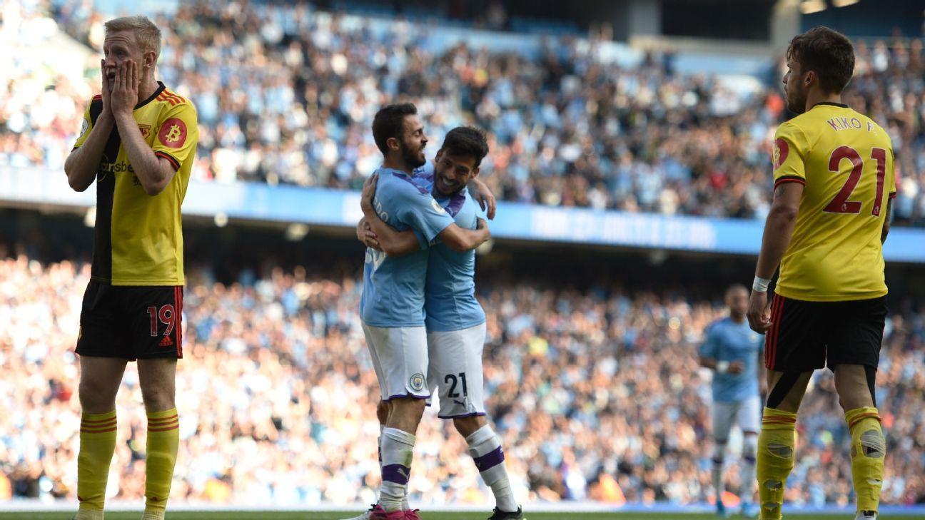 Bernardo Silva and De Bruyne star with 10/10 as Man City hit eight