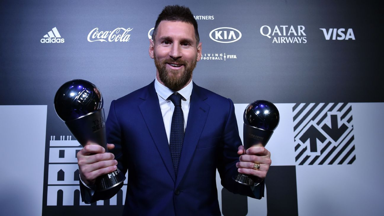 Messi collects record 6th FIFA player of the year - ESPN